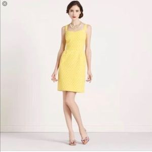 KATE SPADE Hilary Dress, yellow and white size 4